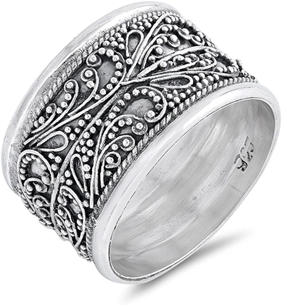 Cute Cactus 925 Sterling Silver High Polish Thin Band Ring With Gift Box