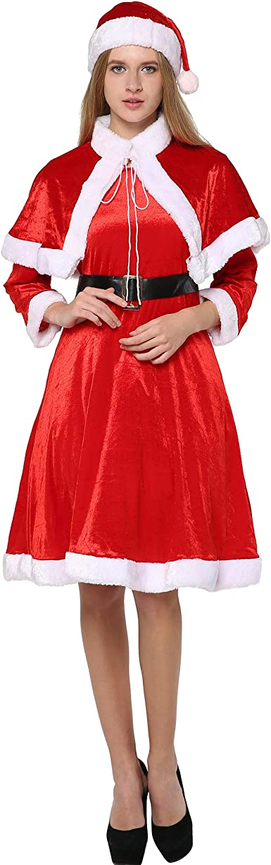 Miss Mrs Santa Claus Deluxe Costume Adult Womens Ladies Christmas Fancy Dress