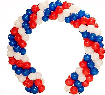 Patriótico Globo Arco Kit Con Rojo Blanco Y Azul Globos 10 Pies Alta X 11 Pies De Ancho Health Personal Care