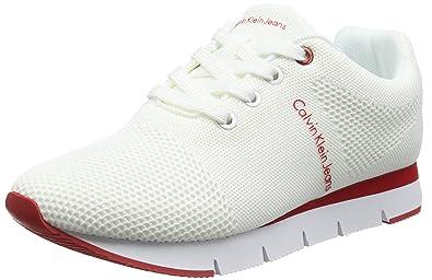 Calvin Klein Tada Mesh, Sneakers Basses Femme, (Blk 000), 39 EU