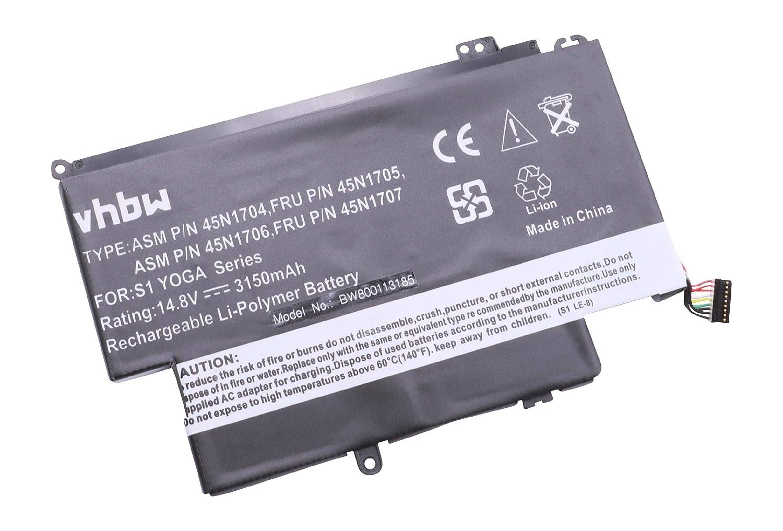 vhbw Li-Polymer batería 3150mAh (14.8V) para Notebook Laptop ...