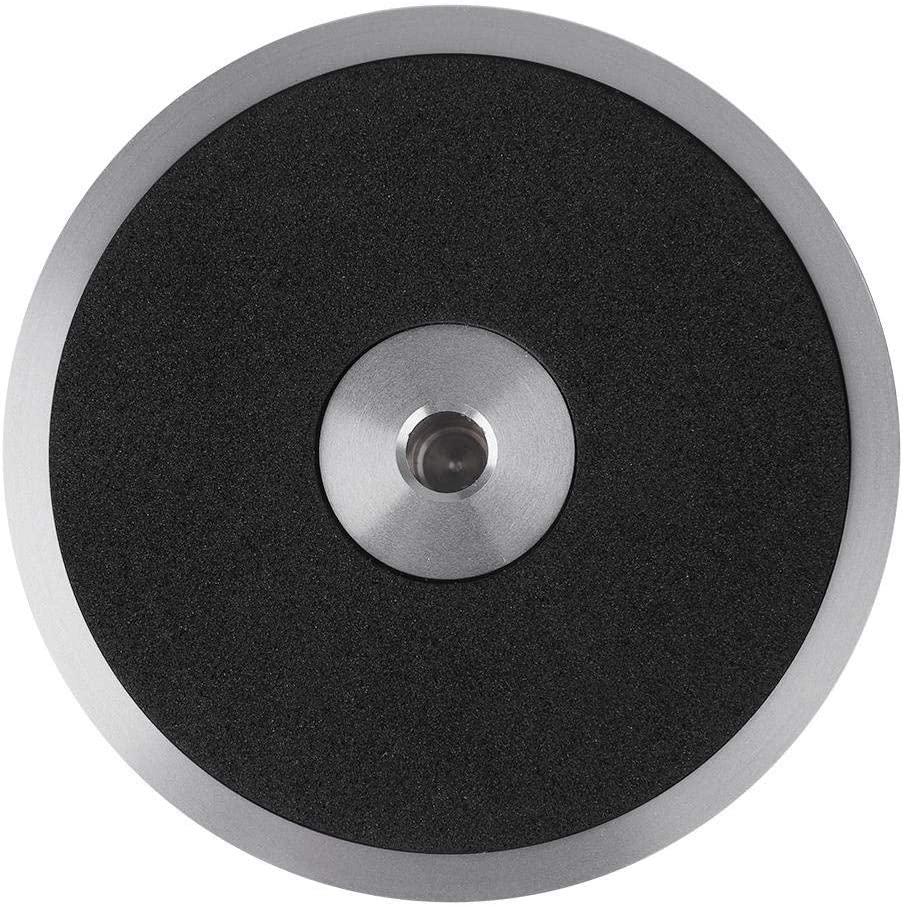 Argento Disco Stabilizzatore per Giradischi Disco in Vinile Disco Audio Stabilizzatore del Disco Morsetto Stabilizzatore per Regolare Il Giradischi in Vinile Lettore CD
