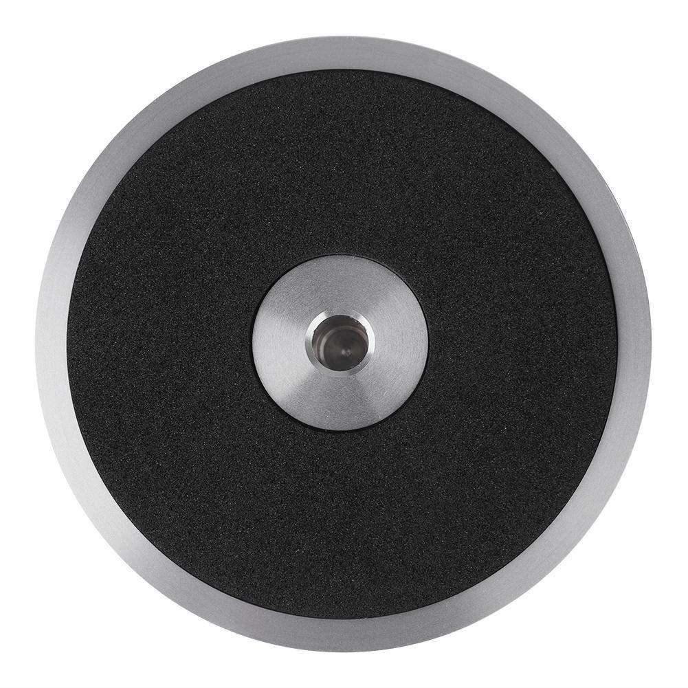 Argento Liukouu Stabilizzatore a Disco in Metallo con Giradischi con Pinza Nera per Dischi