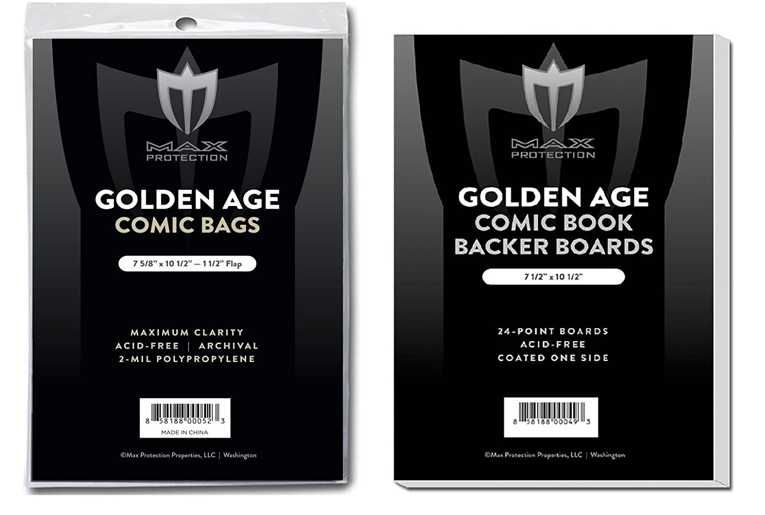 50 EACH Max GOLDEN age COMIC BOOK BAGS AND BOARDS PREASSEMBLED FAST SHIP