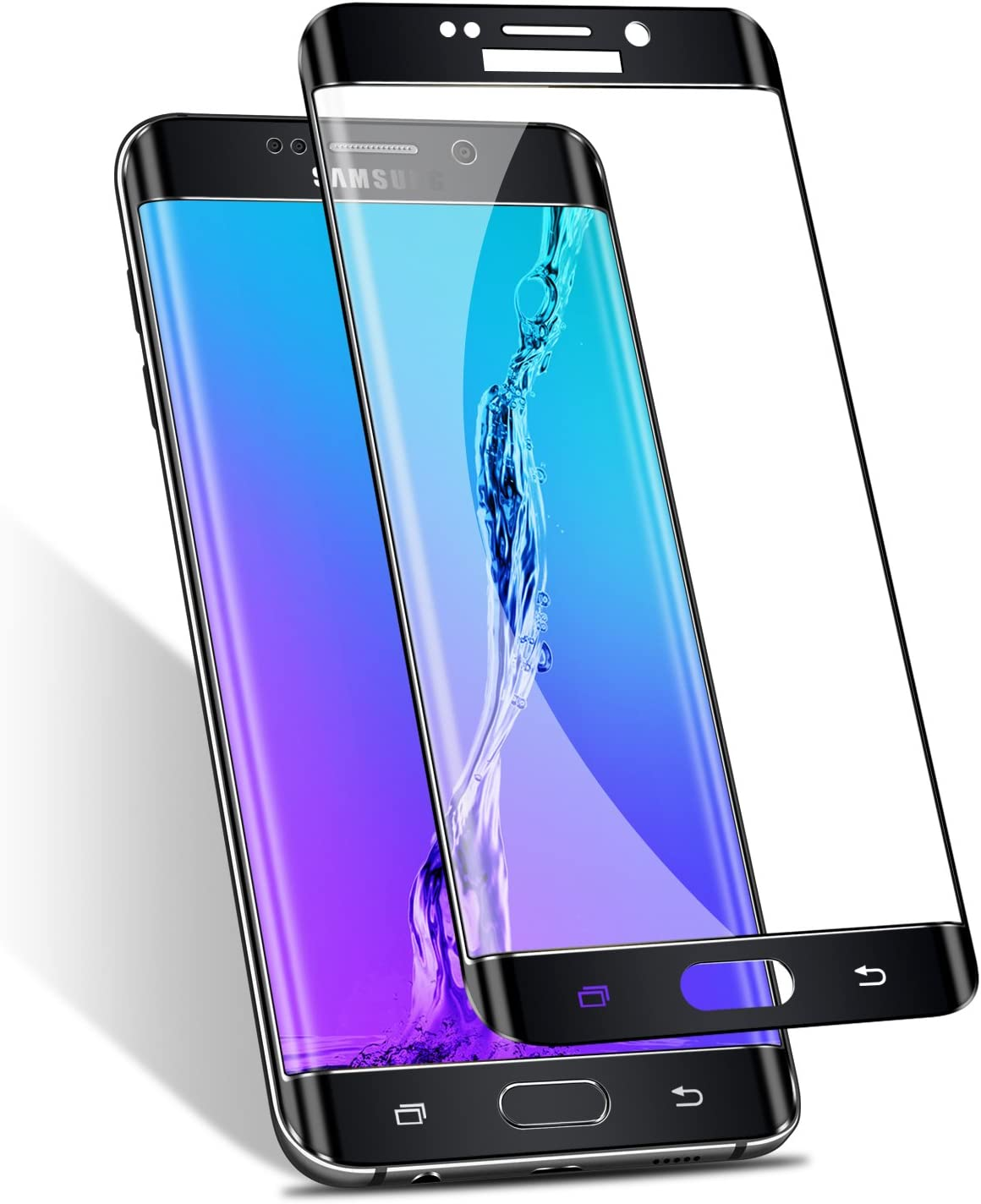 Galaxy S6 Edge Screen Protector,Elebase 3D CurvedTempered Glass,9H Hardness,Full Coverage, Clear Film for Samsung Galaxy S6 Edge