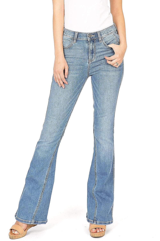 74b05a7fd98 Sneak Peek Jeans Women's High Rise Bell Bottom Flare Denim at Amazon Women's  Jeans store