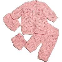 Abelito Fashion Cute Newborn Baby Boy's Girl's Unisex Warm Winter 4 Pieces Crochet Set