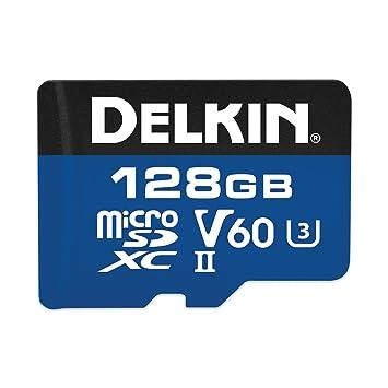 Tarjeta de Memoria Delkin de 128 GB 1900X, microSDXC UHS-I/UHS-II