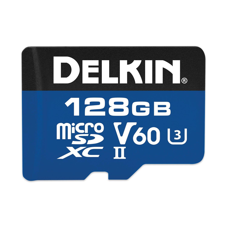 Delkin 128GB microSDXC 1900X UHS-I/UHS-II (U3/V60) Memory Card (DMSD1900128V)