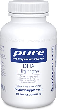 Pure Encapsulations - DHA Ultimate - Eco-Friendly Supercritical CO2 Extracted DHA Fish Oil Concentrate - 120 Softgel Capsules