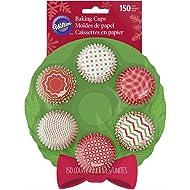 Wilton Christmas Wreath Mini Cupcake Liners 100-Count
