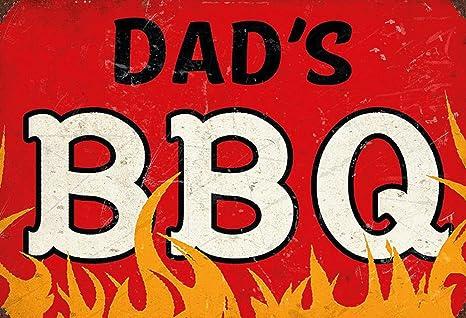 BlechschilderWelt Cartel de Chapa Dads BBQ Grill Barbeque ...