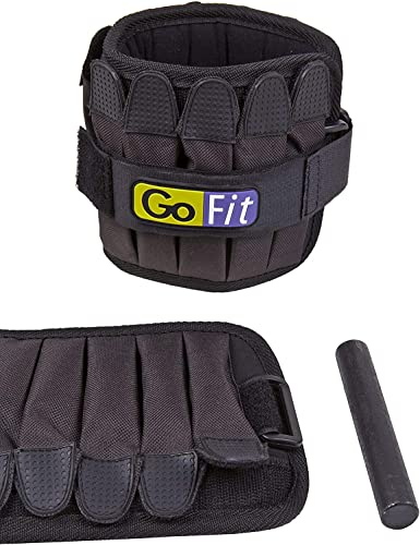 GoFit Padded, Adjustable Ankle Weight Set Comfortable Training and Rehabilitation Gear