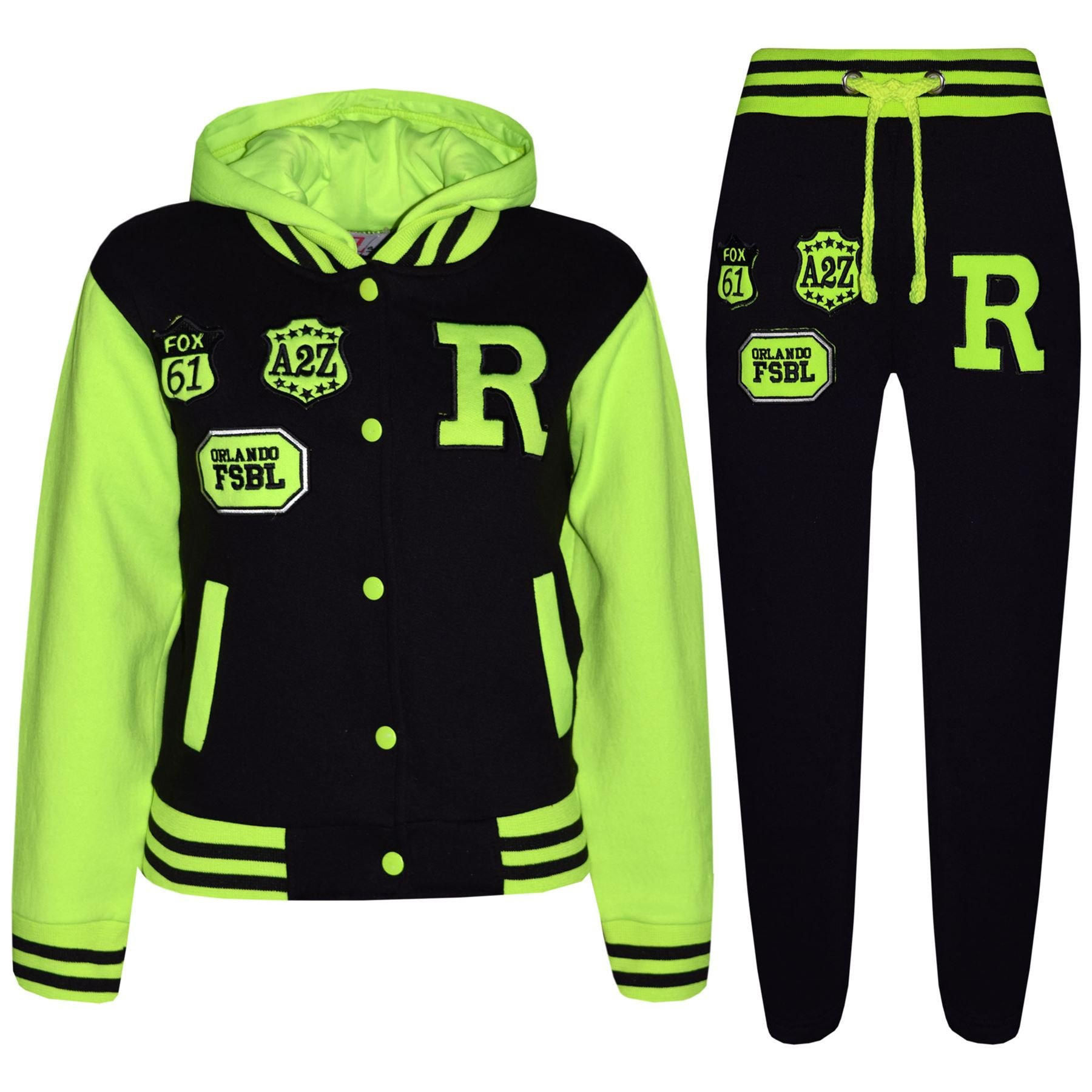 Kids Girls Boys Baseball Tracksuit NYC FOX Jacket Trouser Hoddie Bottom Joggers product image