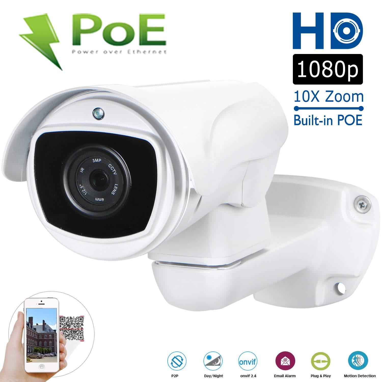 Amazon com : Waterproof PTZ POE IP Camera 1080P Pan Tilt 10x