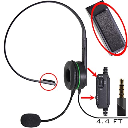 Computer Gaming and Chatting Single Headset Over-Ear with Boom Microphone Foam Covered for PC