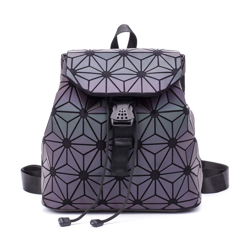 Amazon.com  Women Geometric Luminous Backpack Handbag Fashion Shoulder Bag  Lingge Flash Travel Rucksack NO.6  Suuran 231ad552e1