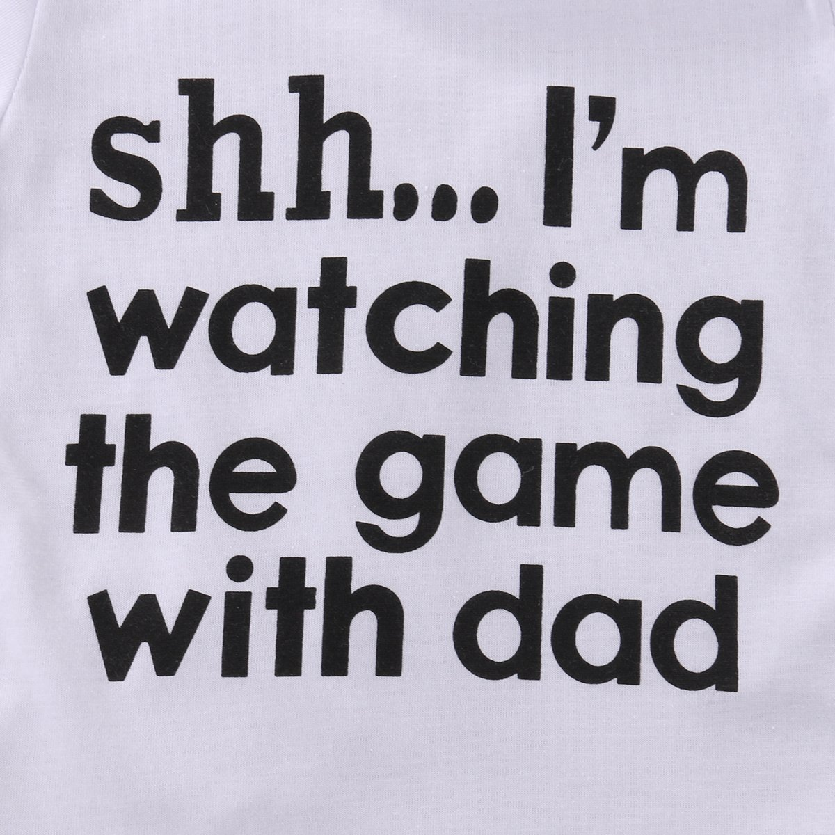 ONES Newborn Infant Babys Short Sleeve Im Watching The Game with Dad Bodysuit Romper Outfits