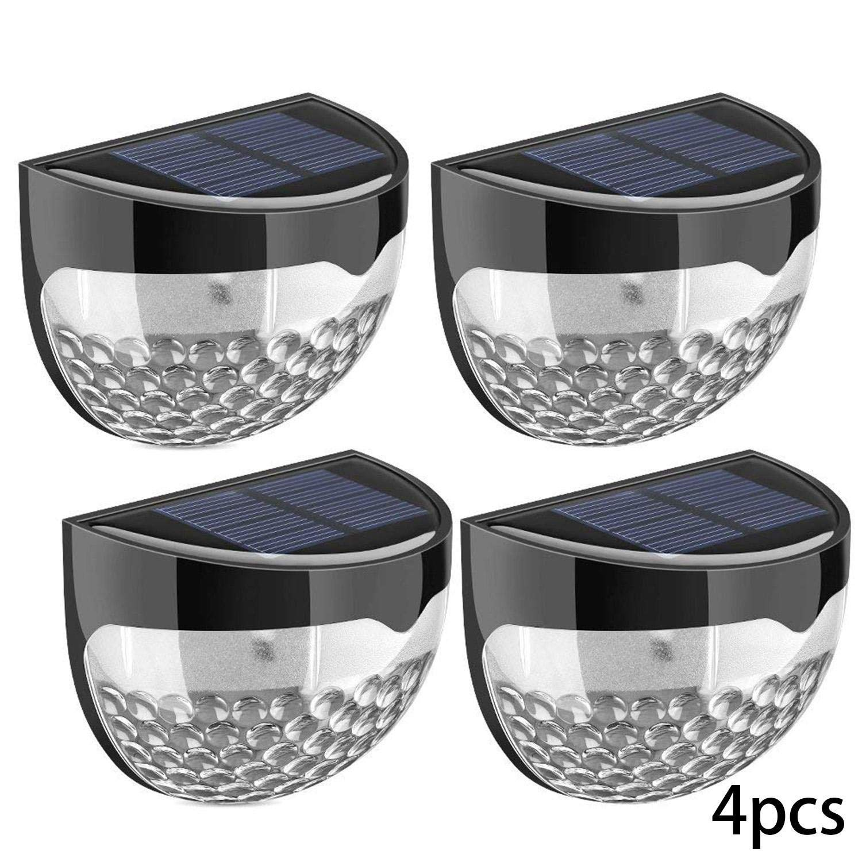 Lanbter 6 LED Solar Wall Light Fence Light Solar Light Outdoor Waterproof Garden Step Lights