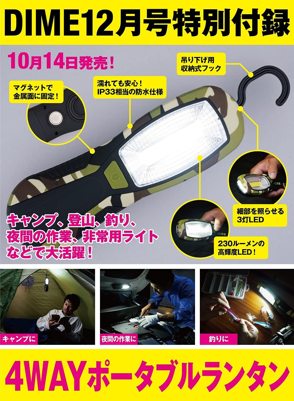 【DIME ダイム 12月号 雑誌付録】4WAYポータブルランタン