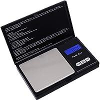 HBlfie Balance de Poche de Précision, Balance de Cusine, Balance de Bijoux avec Affichage LCD et Fonction Tare (Noir) … (Noir2)