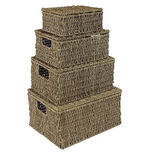 Storage Baskets With Lids Amazon Co Uk