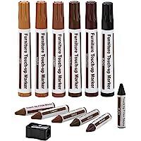 Meubelreparatieset Houten Markers Wax Sticks Met Puntenslijper Kit, Voor Vlekken, Krassen, Houten Vloeren, Tafels…