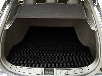 ToughPRO Cargo/Trunk Mat Compatible with Tesla Model S - All Weather -  Heavy Duty - (Made in USA) - Black Rubber - 2012, 2013, 2014, 2015, 2016,  2017,