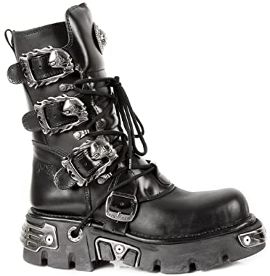 240706c64 Amazon.com | New Rock Shoes - Classic Reactor Boots with Skull ...