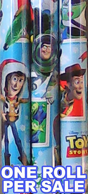 american greetings toy story christmas wrapping paper 20 square feet 6 feet x - Toy Story Christmas Special