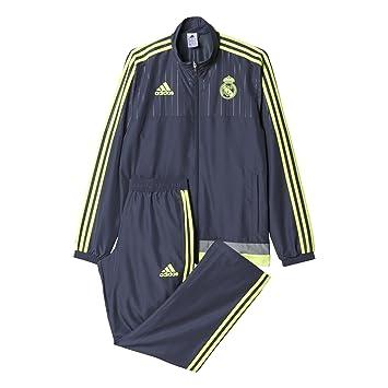 adidas Herren Trainingsanzug REAL PRES Suit, GrauGelb, S