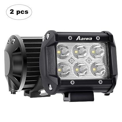 AAIWA Foco LED,4 Pulgada 2x18w Faro Luz para Tractores,Focos para ...