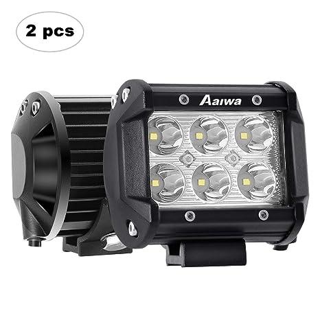 Foco LED,4 Pulgada 2x18w Faro Luz para Tractores,Focos para 4x4,de
