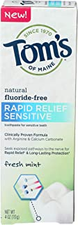 product image for Tom's of Maine, Natural Rapid Relief Sensitive Fluoride Free Toothpaste - Fresh Mint, 4 Ounce