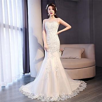 5b709bdf96 Vestidos de novia cola de sirena