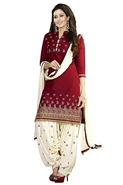 9f3b3d8f1d Mahavir Fashion Women's Poly Cotton Printed Salwar Kameez Patiala Suit  Dress Material.: Amazon.in: Clothing & Accessories