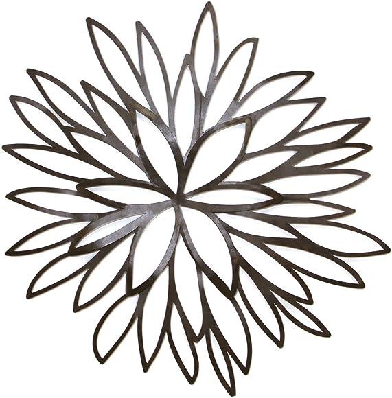 Fetco Home D cor Julianna Flower Burst Wall Art Piece