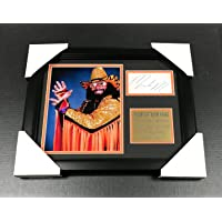 WWF WWE MACHO MAN RANDY SAVAGE Autographed Reprint 8x10 Photo Framed - Autographed Wrestling Miscellaneous Items photo