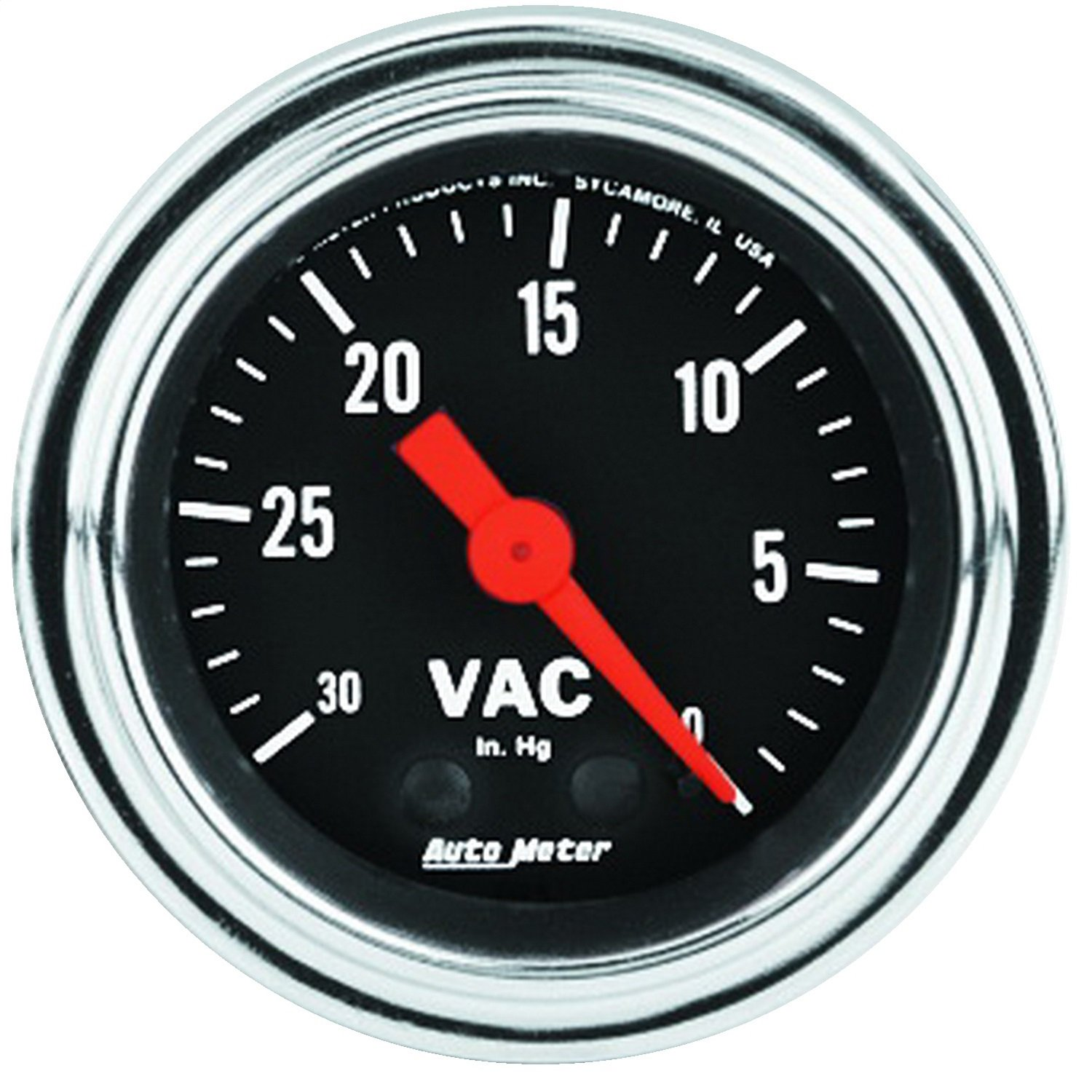 Auto Meter 2484 Traditional Chrome Mechanical Vacuum Gauge by Auto Meter