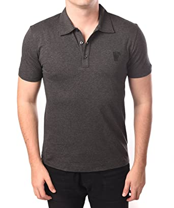 Versace Collection Men Medusa Polo Shirt Grey  Versace  Amazon.co.uk ... 13b06eee84b8