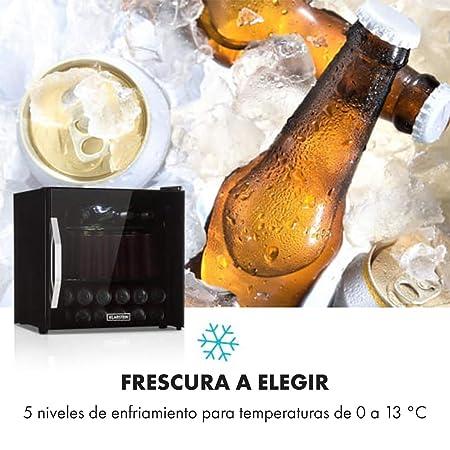 Klarstein Beersafe L Onyx nevera de bebidas con puerta acristalada ...