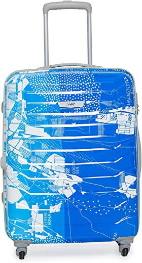 Skybags Trooper 65 Cms Polycarbonate Blue Hardsided Check-in Luggage