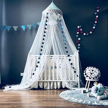 mit Sternen Dekoration 60 * 300cm OldPAPA Moskitonetz Blau Betthimmel Deko Baldachin Moskitonetz Kinder Prinzessin Spielzelte Dekoration f/ür Kinderzimmer