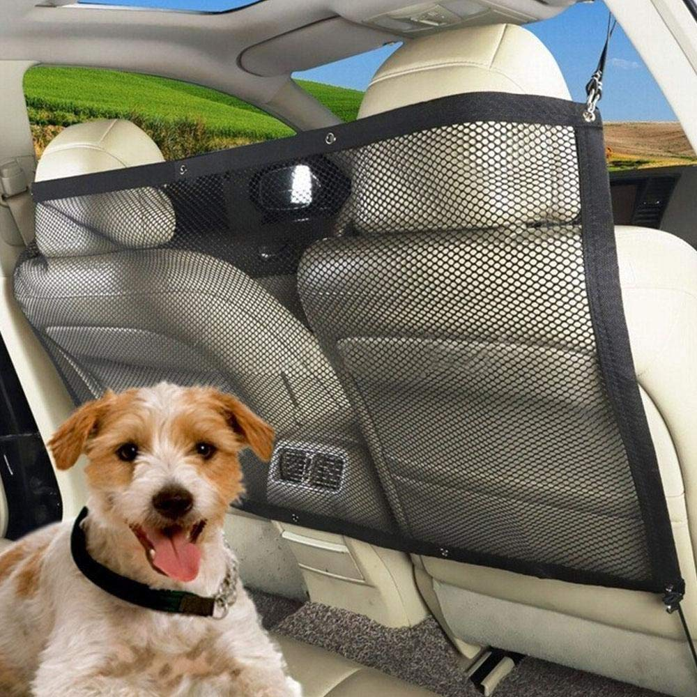 KOBWA Barrera para Mascotas, Red de Seguridad para Coche, Universal, portá til, para Mascotas, Perros, Gatos, Malla de Seguridad Duradera para Furgonetas, vehí culos y Camiones portátil vehículos y Camiones