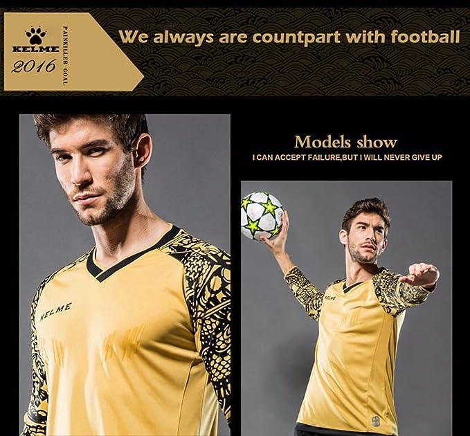 144c917045b Kelme Football Goalkeeper Long Sleeve Professional Training Shirt:  Amazon.co.uk: Sports & Outdoors