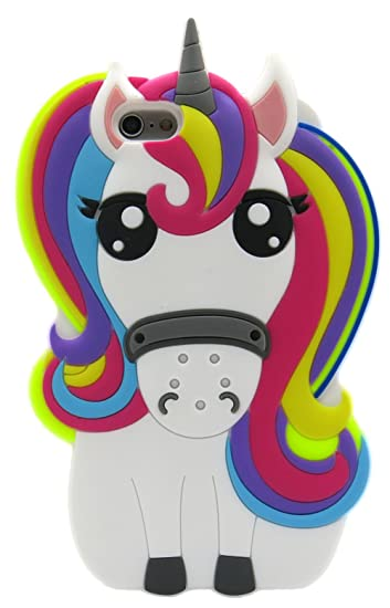 new products e0efc acd59 Iphone 6 Plus Case Unicorn, Iphone 6S Plus Case Unicorn, Girls Cartoon  Silicone Rubber Unicorn Phone Cases for Iphone 6 Plus & Iphone 6S Plus 360  ...