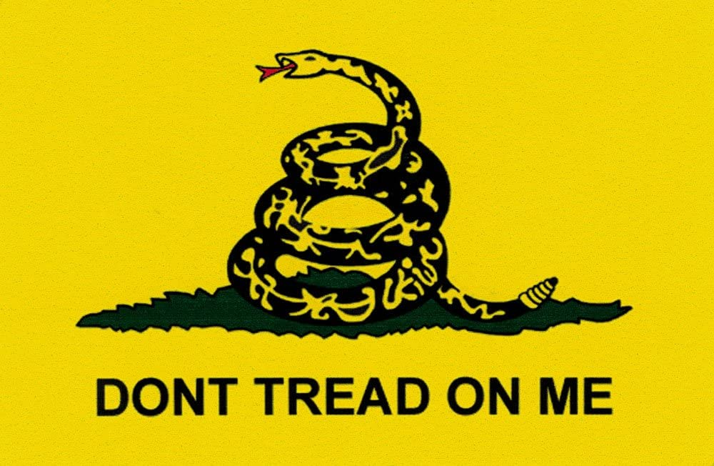 """Don't Tread On Me - Small Bumper Sticker or Laptop Decal (3.5"""" X 2.25"""")"""