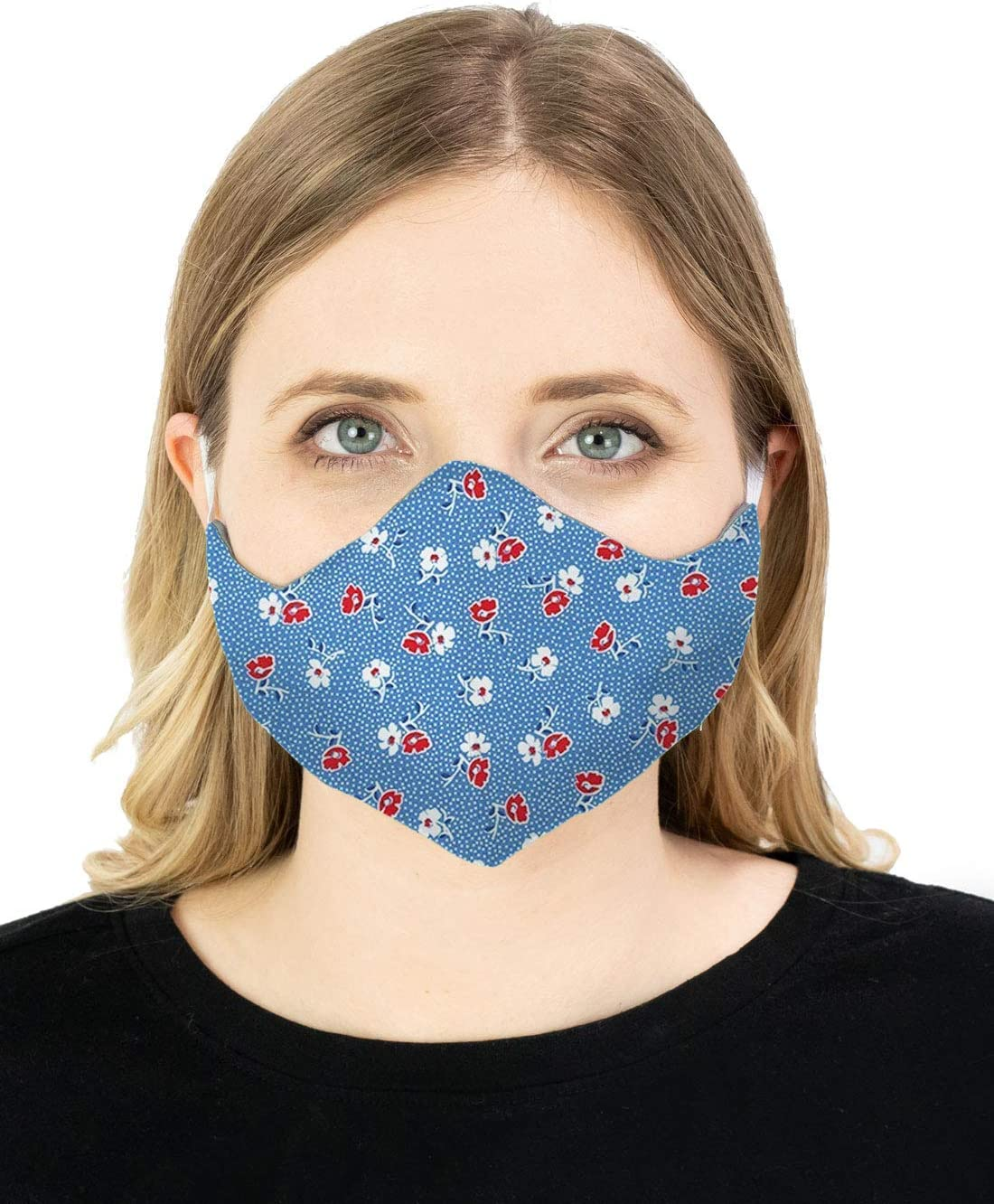 Face Mask Reversible Protect Mouth Nose USA Reusable Cotton Double Layer Unisex