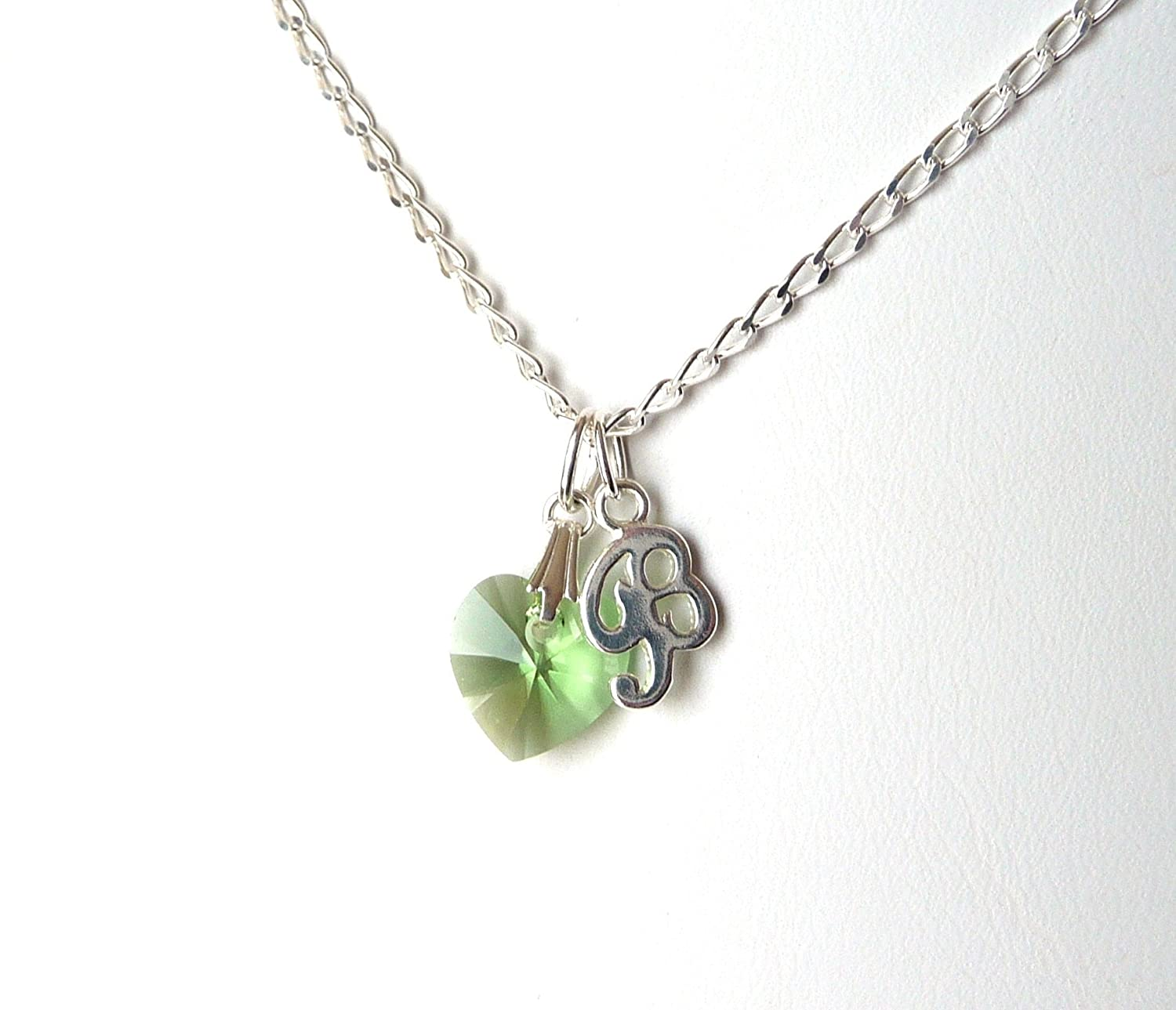 Personalized Necklace With Birthstone Tween Girl Jewelry CHOOSE COLOR LETTER SIZE Gifts Birthday