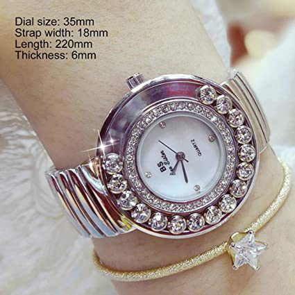 Charming Women Quartz Watch Women Watches Ladies Big Round Dial Rhinestone Wrist Watch Quartz-Watch Jewelry: Amazon.es: Relojes